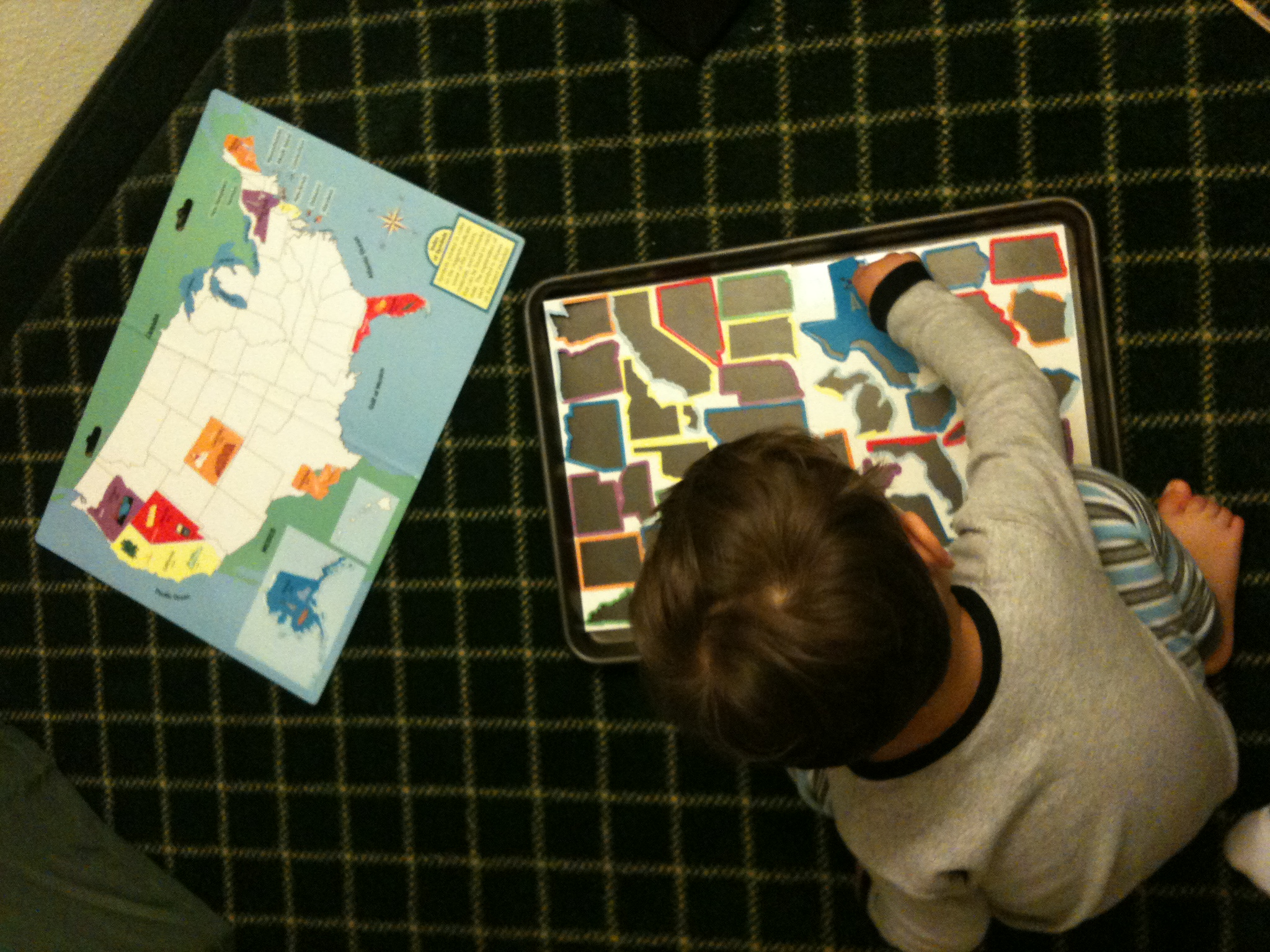 Homemade Games Fun  Engaging Activities For Toddlers - Us states map puzzle game